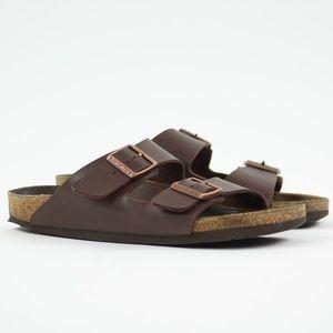 Birkenstock Arizona Leather Buckle Slide Sandal 41